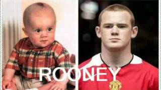 superstar soccer or football players as kids and babies