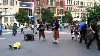 Beat-boxer And Bagpipe, Union Square, Nyc (andrew Forbes And Reo Matsumoto)
