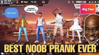 BEST NOOB PRANK IN FREE FIRE (Crazy Reaction)    HWK NOOB   HAWKEYE OFFICIAL