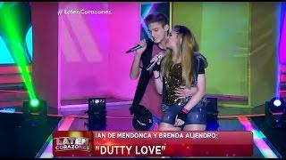 "Ian de Mendonca y Brenda Aliendro cantan ""Dutty Love"" - Laten Corazones"