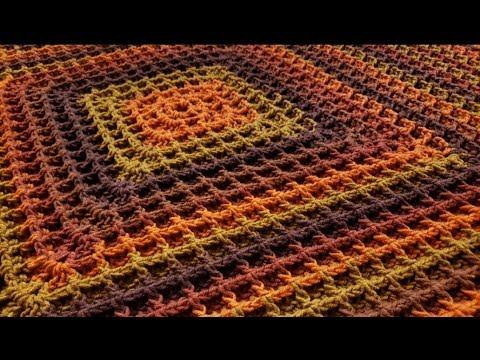 The Square Waffle Blanket Crochet Tutorial! thumbnail