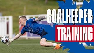 Pickford, Henderson & Pope Intense Shot Stopping Session 🧤 Goalkeeper Training | Inside Training