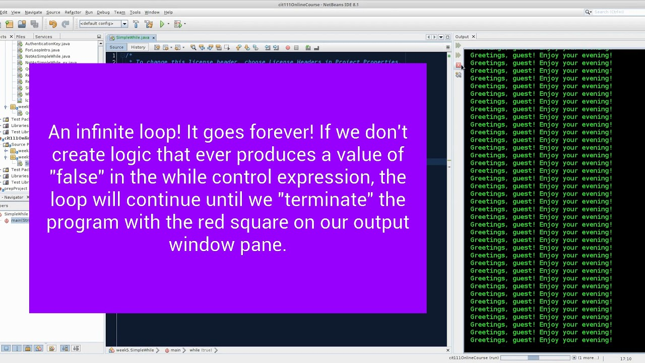 Looping with while() and for()
