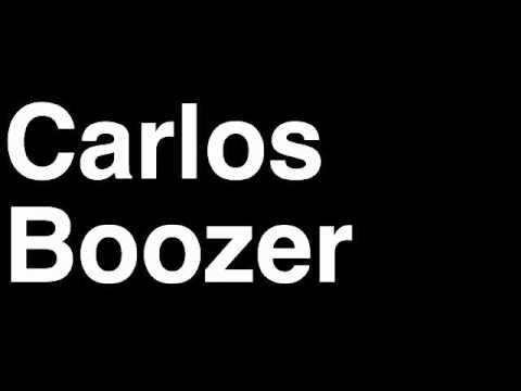 How to Pronounce Carlos Boozer Chicago Bulls NBA Basketball Player Runforthecube