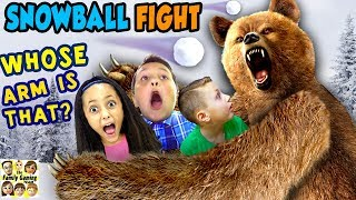 GRIZZLY BEAR ATTACK! 😱 FGTEEV Family Loses Arm? ☠ SNOWBALL FIGHT Gaming Battle Challenge ❄ KING ME! thumbnail