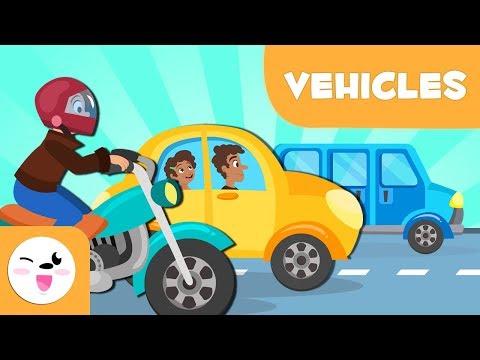 Land Transport vehicles for kids - Vocabulary