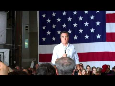 Romney in Broomall, Pa April 2012