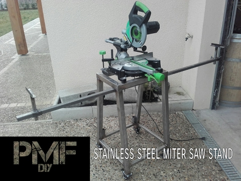 Homemade miter saw stand !!stainless steel!!