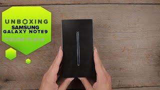 Unboxing del Galaxy Note 9 en su nuevo color plateado
