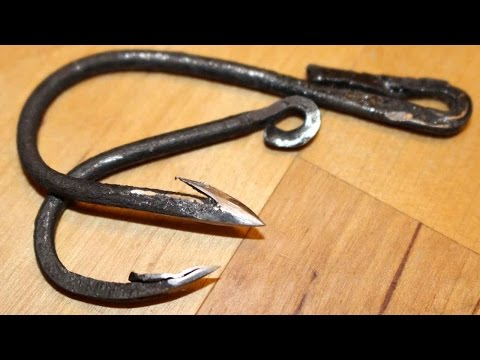 Thumbnail: Forged fishhook fishing challenge! Can I catch a fish with a hand forged fish hook?