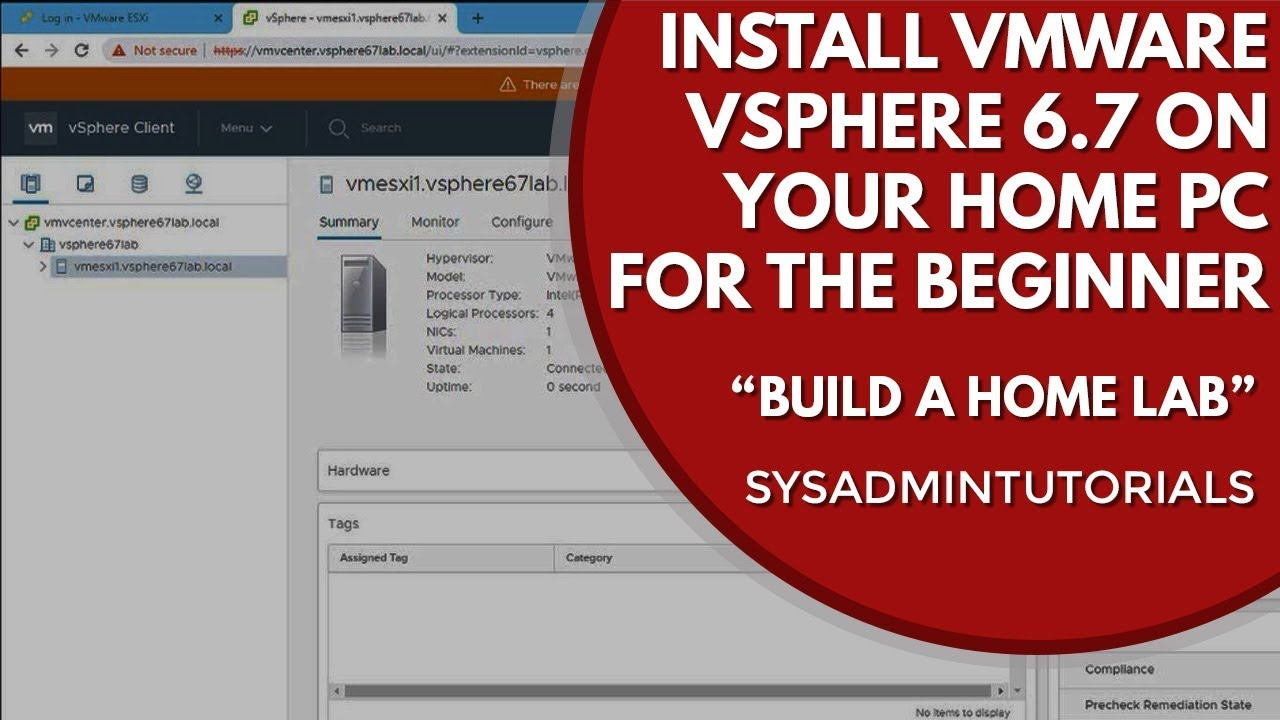 How To Create a VMware Workstation vSphere 6 7 Home Lab | For The Beginner