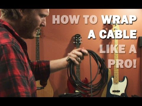 """How to Wrap a Cable the Right Way """"Over Under"""""""