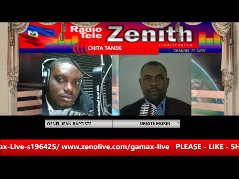 CHITA TANDE  ZENITH FM HAITI  SUR  RADIO TÉLÉ GAMAX LIVE   gamaxlive.com