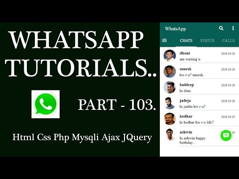 WhatsApp Tutorial Part-103: Last Seen chat Image AJAX PHP HTML CSS for Android mobile, Tablet , Web. thumbnail