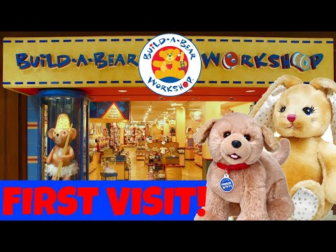 ❤️Build-A-Bear Workshop!!❤️Our First Visit Ever!! 😍 (With Skye & Caden! Aloha Baby Alive)😍