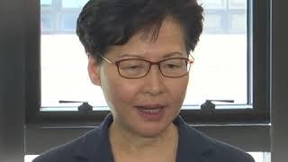 林郑探望受伤警员 希望得到社会谅解