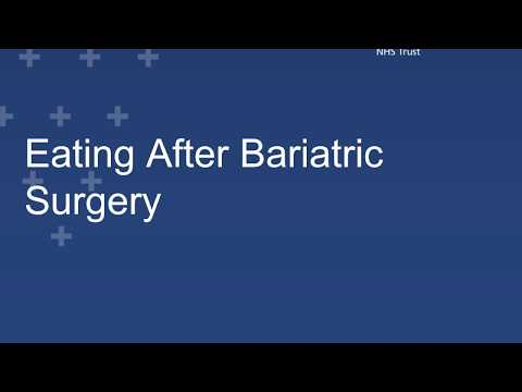 Eating After Bariatric Surgery