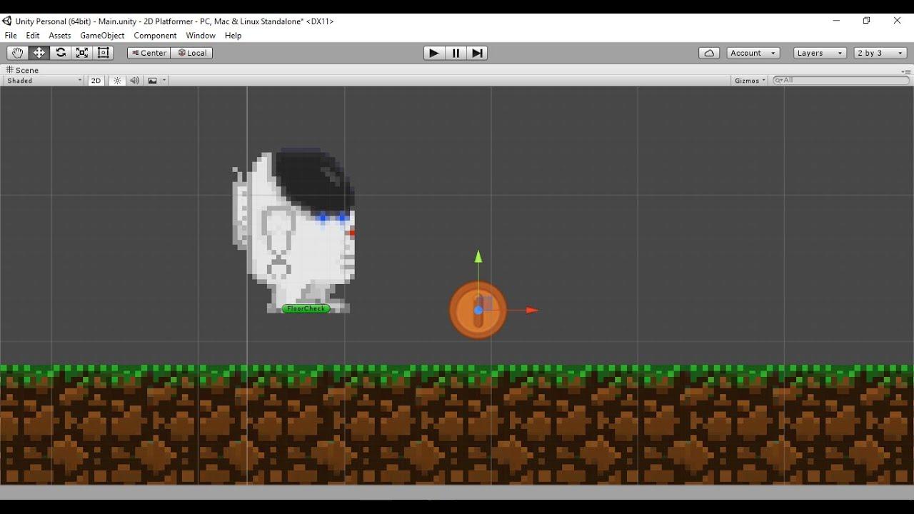 Unity 5 Tutorial 2d Platformer Game Part 1 Introduction N