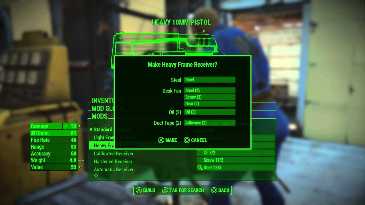 Fallout 4 - Weapons Workbench Tutorial: 10MM Pistol Modded with ...