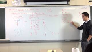 The Wine Glass (4 of 4): Conclusions from Calculus [dh/dt in terms of time]