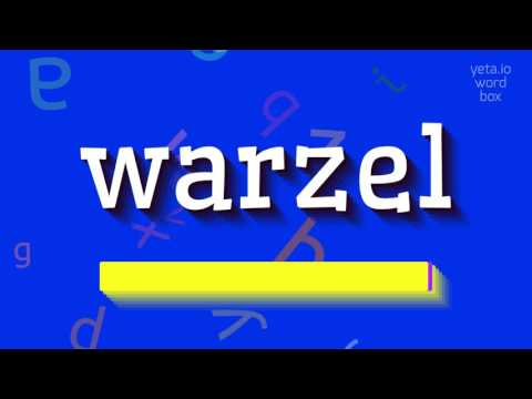 "How to say ""warzel""! (High Quality Voices)"