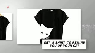 Funny cat t shirts - casual cat T-shirt for ladies