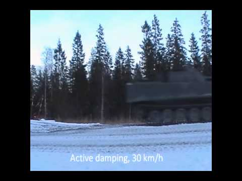 BAE Systems F1 Active suspension on a tank jumping
