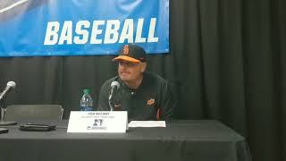 OSU Baseball: Josh Holliday talks about the season