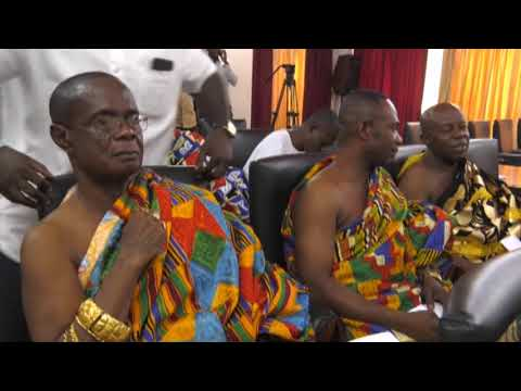 (ERSTWHILE)   NATIONAL HOUSE OF CHIEFS PAY COURTESY CALL ON PRESIDENT_AKM