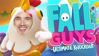 Fall guys 100% Win Rate | PewDiePie fall guys #3 with Jacksepticeye