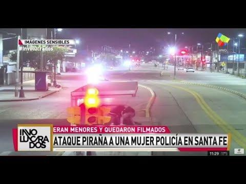 Ataque piraña a una mujer policía en Santa Fé