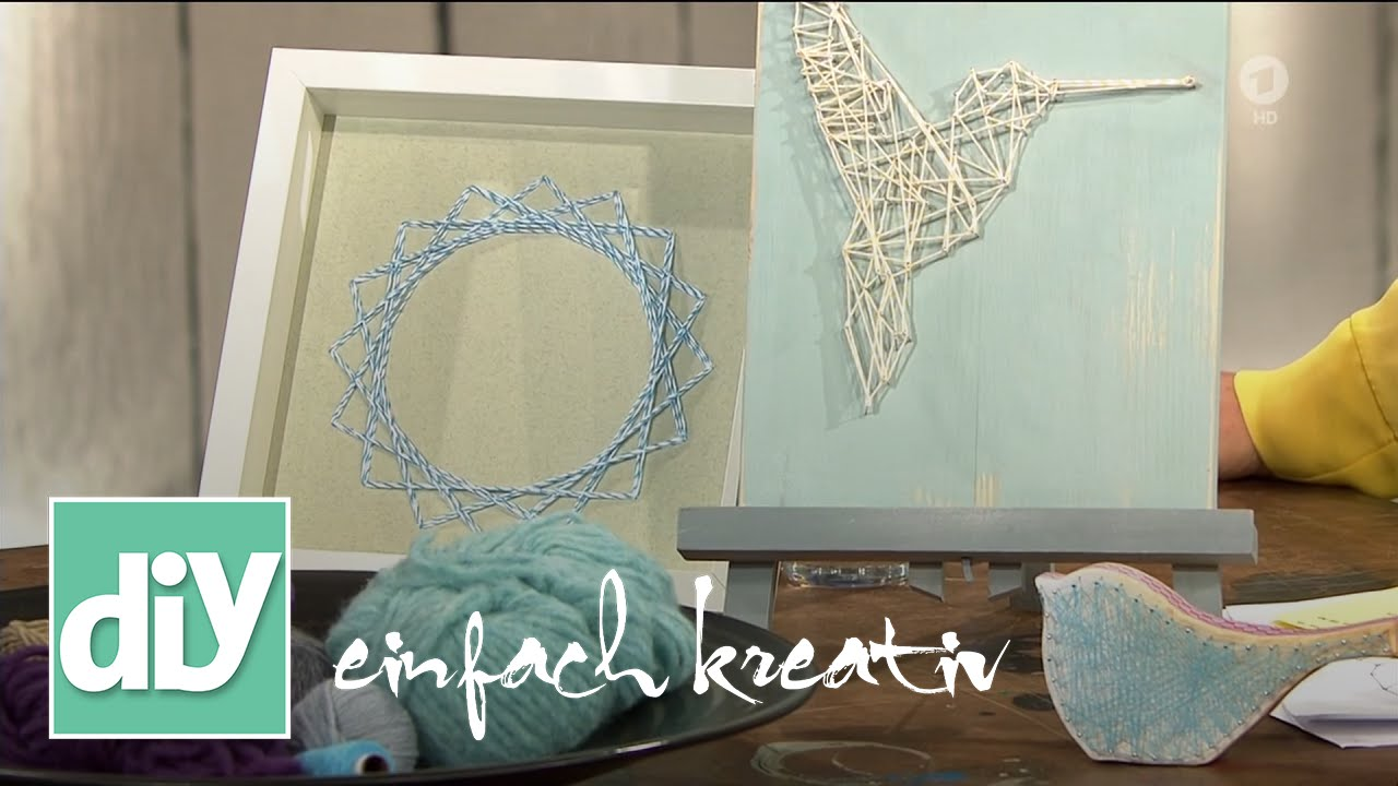 string art fadenkunst diy einfach kreativ youtube. Black Bedroom Furniture Sets. Home Design Ideas