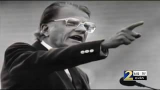 Billy Graham held 3 crusades in Atlanta, was friends with Martin Luther King Jr.