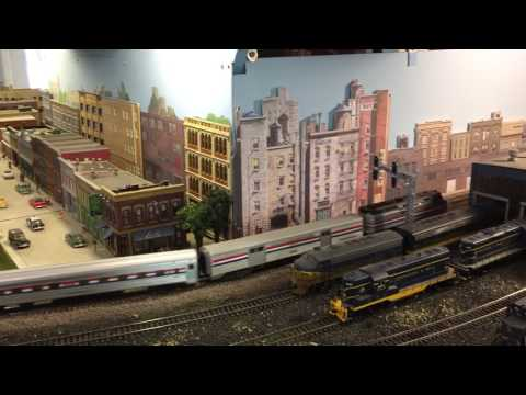 HO Scale Amtrak Train At The Blissfield Model Railroad Club