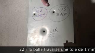 6.35/25ACP VS 7.65/32ACP VS 22 lr Penetration Test