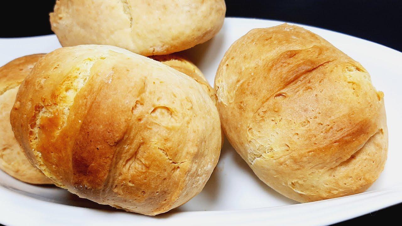 Pan sin amasar, sin leudar 3 ingredientes y muy rapido