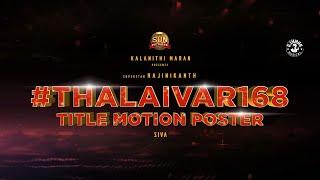 Annaatthe - #Thalaivar168 Title Motion Poster | Superstar Rajinikanth | Sun Pictures | Siva