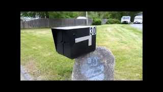 Custom Made ..large Steel Mail Box .. For Big Delivers