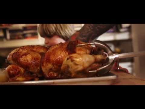 Ludo à la Maison - Butter and rosemary brushed rotisserie chicken by Chef Ludo.