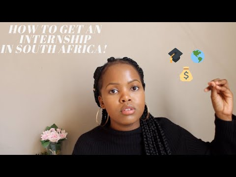 CAREER TALK: How to get an internship in South Africa!