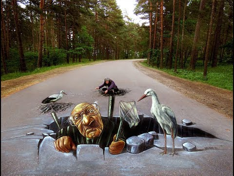 Awesome 3d Road paints // civil construction