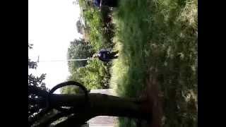 Kid Fails On Tire Swing