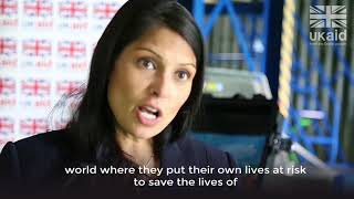 Aid workers should never be targets: Priti Patel on World Humanitarian Day