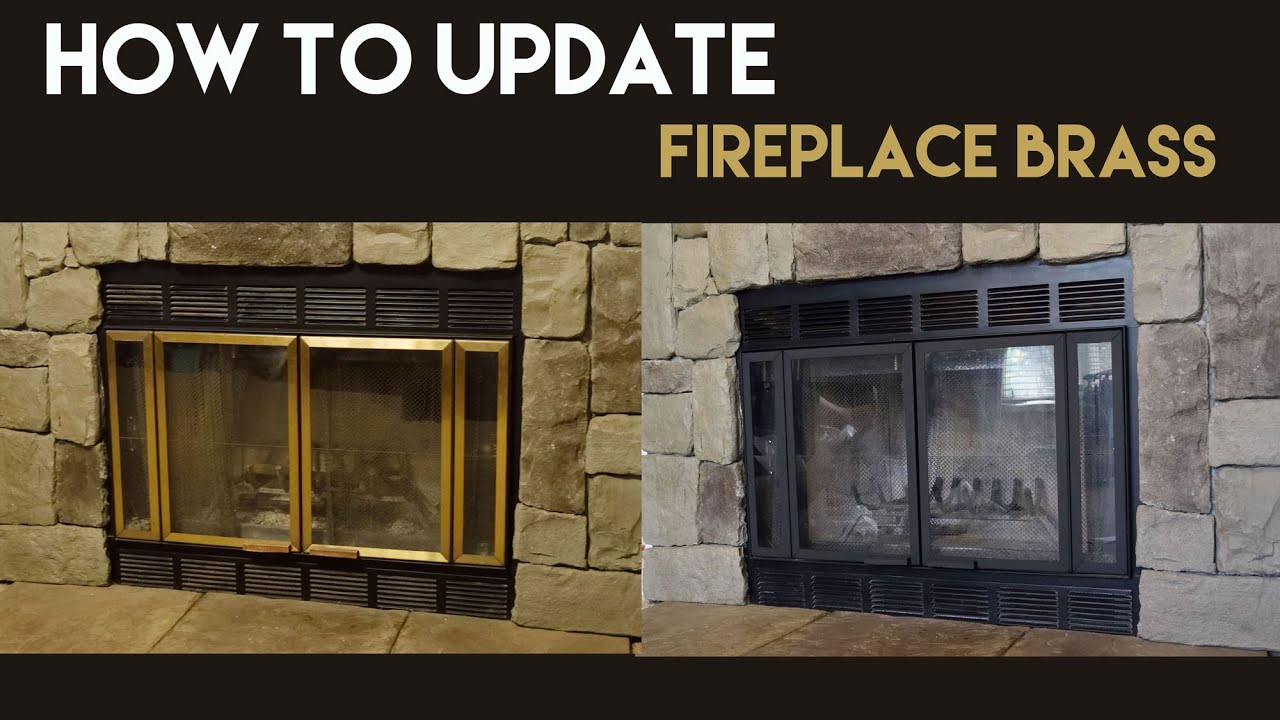 Painting An Old Fireplace How To Update Fireplace Brass Youtube
