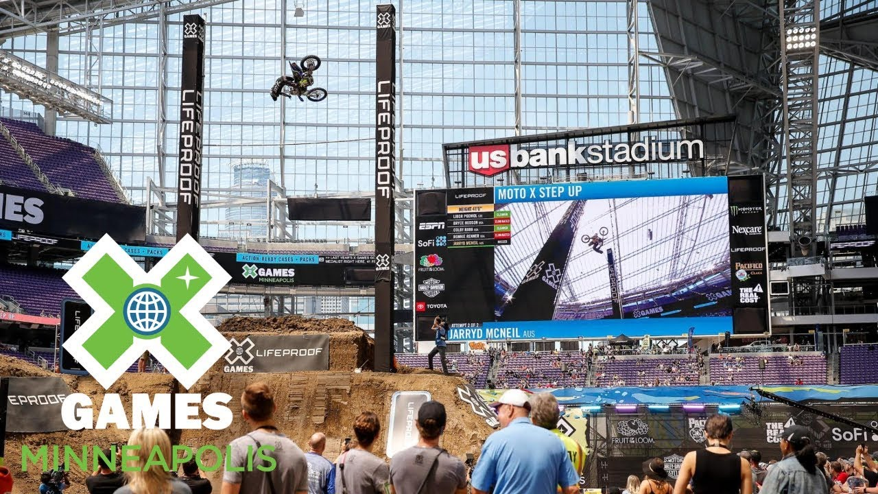 Jarryd Mcneil Jumps 43 Feet To Win Moto X Step Up Gold Minneapolis 2018