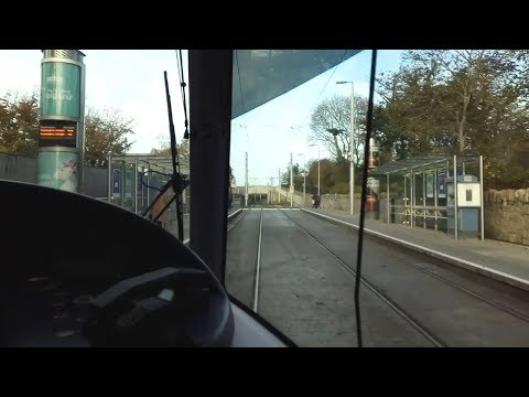 On Board a Luas Tram - Laughanstown to Carrickmines, Dublin