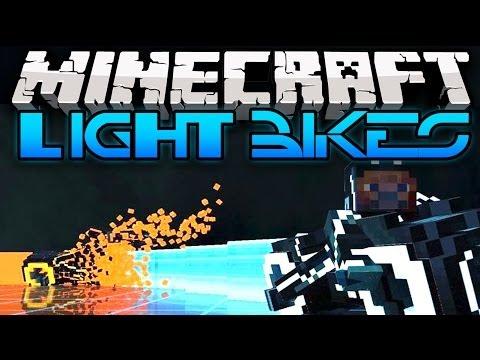 Minecraft: LIGHT BIKES! TRON IN MINECRAFT!  MiniGame