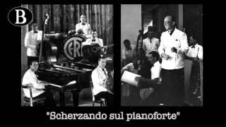 """Pippo Barzizza dirige """"Scherzando sul pianoforte"""" di Francesco Ferrari. Orchestra Cetra, 1943."""