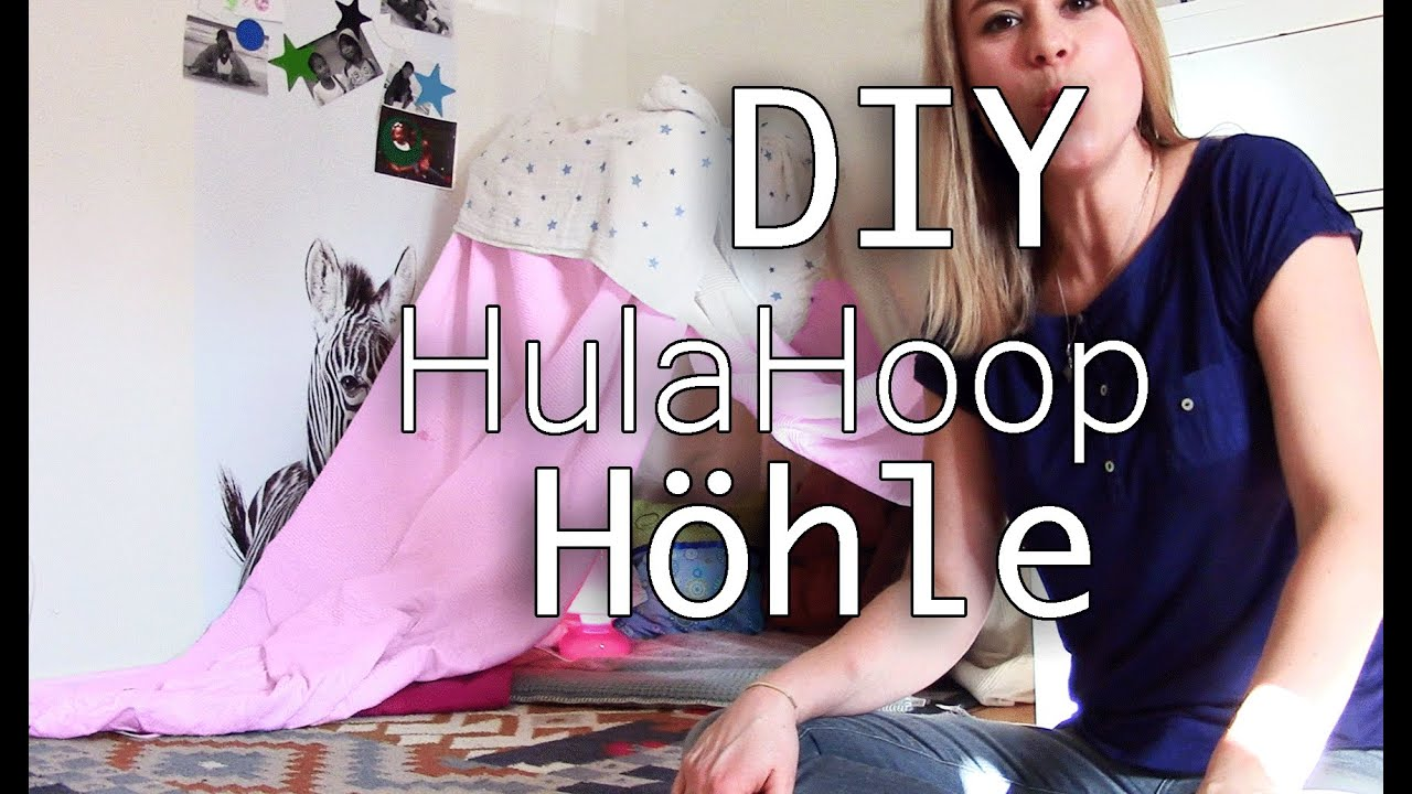 h hle bauen hula hoop kinder h hle diy youtube. Black Bedroom Furniture Sets. Home Design Ideas