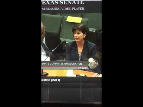 Josh Boring testimony to Texas Senate Committee on Education